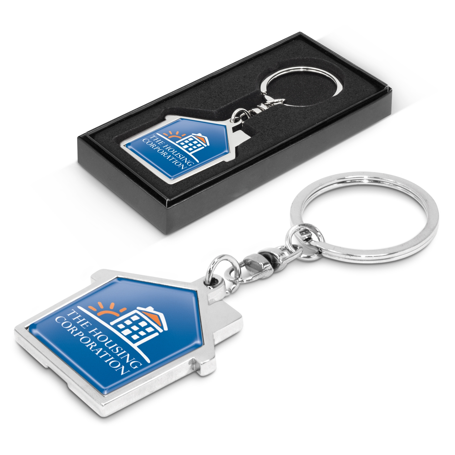 100322-0-House Metal Key Ring
