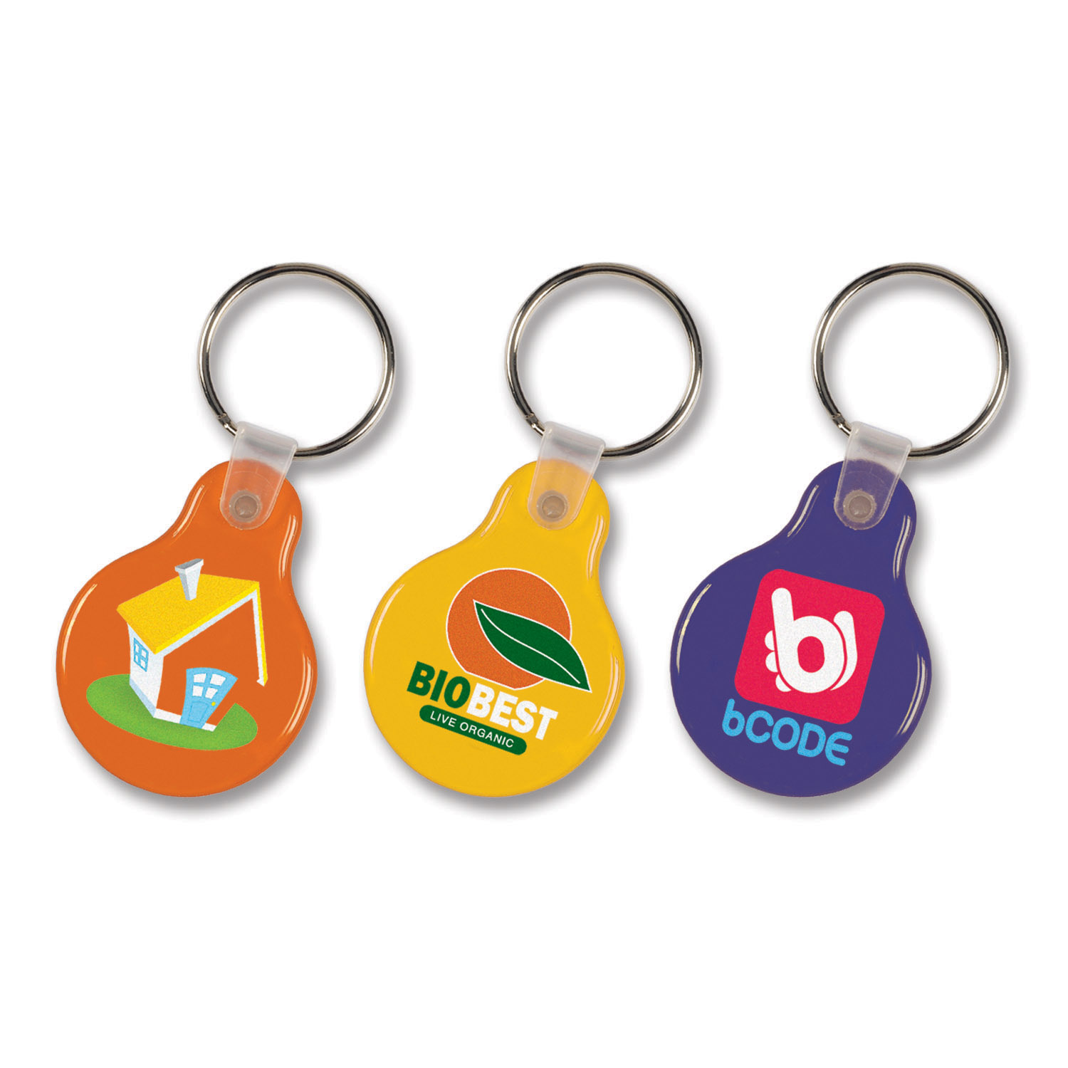 104337-0-Flexi Resin Key Ring - Round