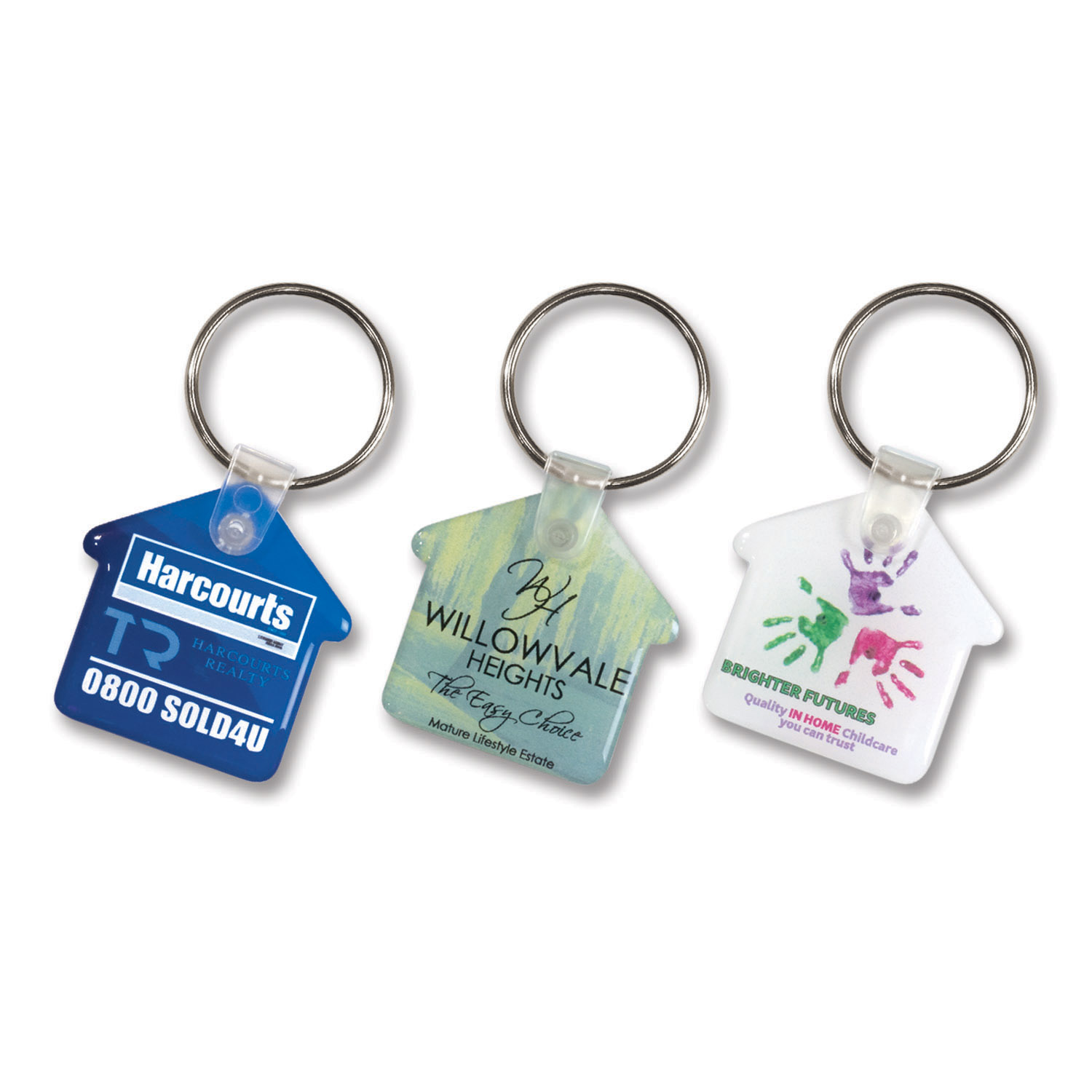 105796-0-Flexi Resin Key Ring - House